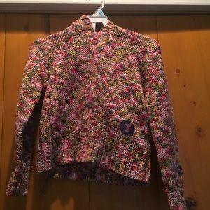 Girls H&M Rainbow Knit Snoopy Sweater